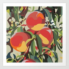 Peach Tree Jungle Art Print