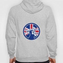 British Lumberyard Worker Union Jack Flag Icon Hoody