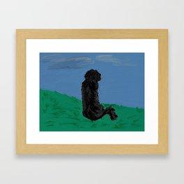 shaggy poodle Framed Art Print