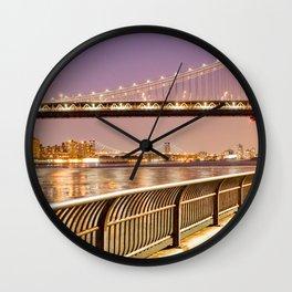 New York City Nights Wall Clock