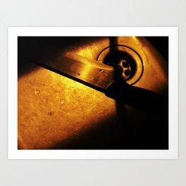 Knife in the night Art Print