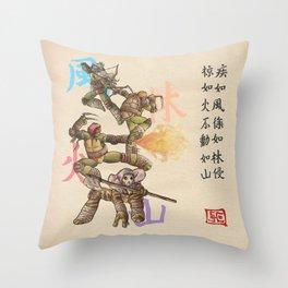 TMNT Furinkazan Throw Pillow