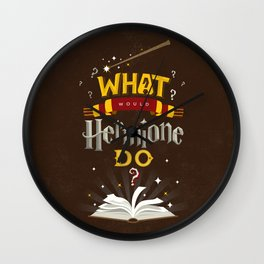 What Would Hermione Do? Wall Clock