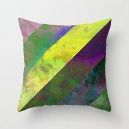45 Degrees - Abstract, textured, diagonal stripes Throw Pillow