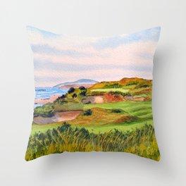 Pacific Dunes Golf Course Oregon WA Hole 11 Throw Pillow