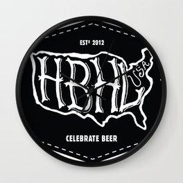 Hoppy Beer Hoppy Life Celebrate Beer Shirt Wall Clock