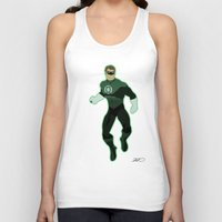green lantern Tank Tops featuring Green Lantern by The Vector Studio