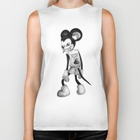 mickey Biker Tanks featuring Mickey by wa55up