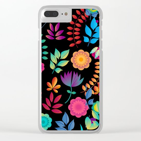 FLORAL PATTERN 4 Clear iPhone Case