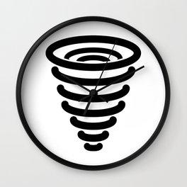 Tornado Icon Wall Clock