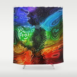 In Alignment With Your System Shower Curtain