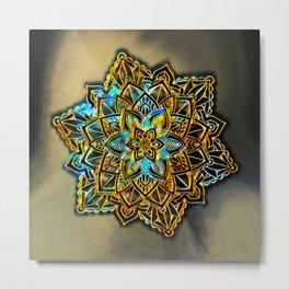 Golden Abstract 10 Metal Print