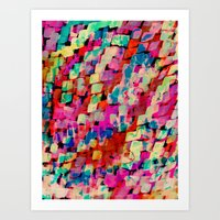 mineral Art Prints featuring Mineral by Amy Sia