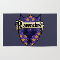 ravenclaw Area & Throw Rugs featuring Ravenclaw Crest by AriesNamarie