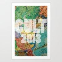 globe Art Prints featuring globe by Chad spann