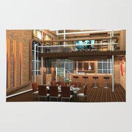 Loft Apartment Dining Room Rug