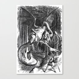 Jabberwocky Illustration from Alice in Wonderland Canvas Print
