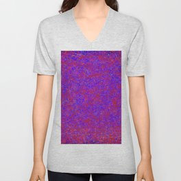 chaos in red blue purple Unisex V-Neck