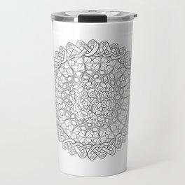 Lantana Flower Celtic Knot Mandala Travel Mug