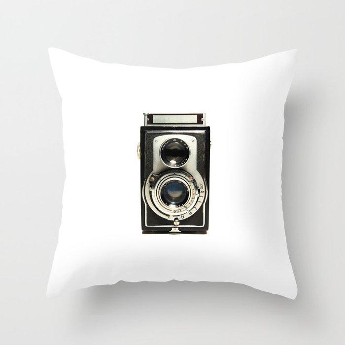 Vintage Camera Throw Pillow