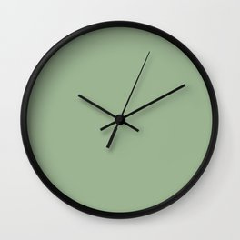 Solid Color SAGE GREEN Wall Clock