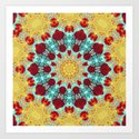Golden Lace Aqua Mandala by webgrrl