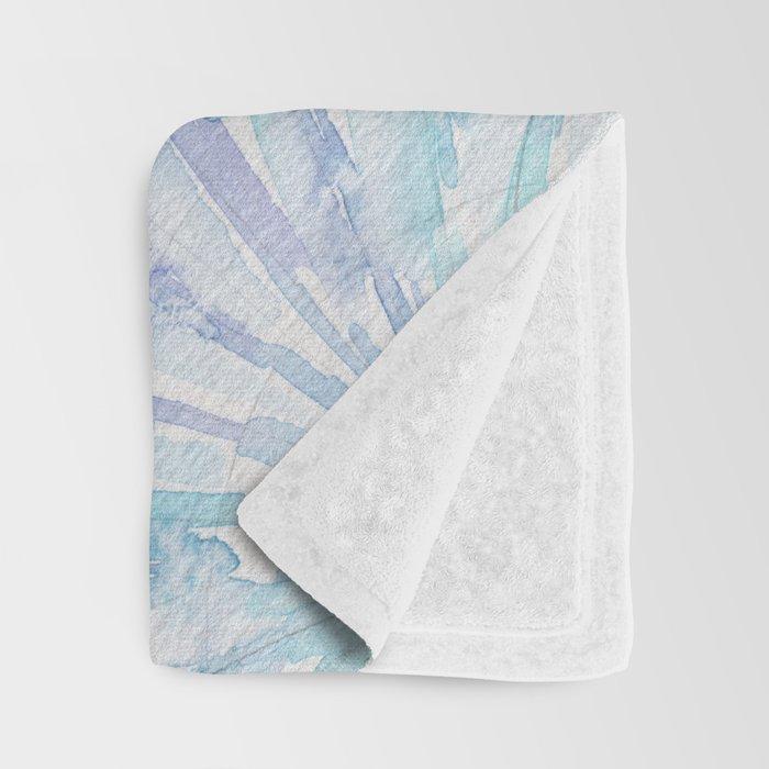 Shell Ya Later - Turquoise Seashell Pattern Throw Blanket