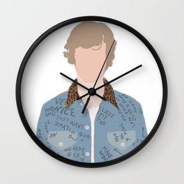 Menswear High Fashion Illustration Wall Clock