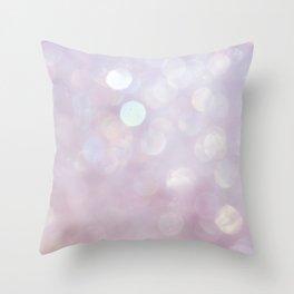 Bokeh Series - English Lavender Throw Pillow