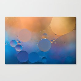 Oil and Water Abstract Canvas Print