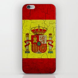 Grunge Spain flag iPhone Skin