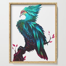 Emerald Phoenix Serving Tray