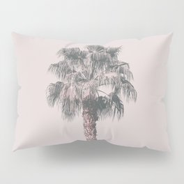Tropical Palm Tree In Pastel Pink Light Pillow Sham