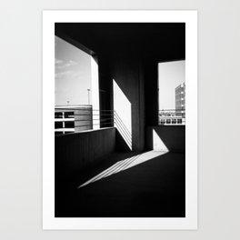 Garagescape Shadow Art Art Print