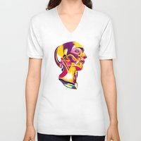 anatomy V-neck T-shirts featuring Anatomy 220914 by Alvaro Tapia Hidalgo
