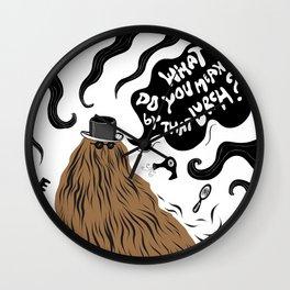 Cousin Itt (Addams Family) Wall Clock