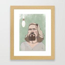 Lebowski Framed Art Print