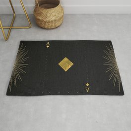 Ace of Diamonds - Golden cards Rug