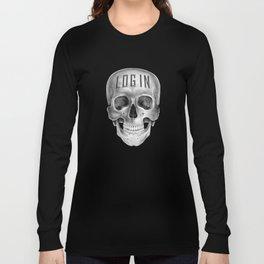 Skull Log in B&W Long Sleeve T-shirt