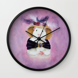 Beatrice Buttercream the Victorian Guinea Pig Wall Clock