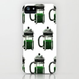 French Press - Green iPhone Case
