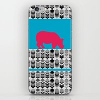 rhino iPhone & iPod Skins featuring rhino  by mark ashkenazi