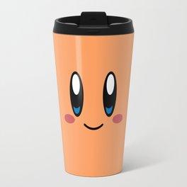 Kirby Face (Orange) Travel Mug