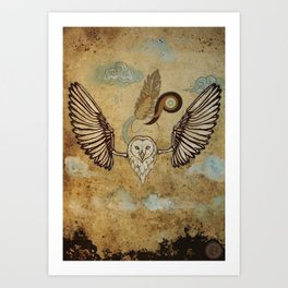 Bird series #2, Owl Art Print