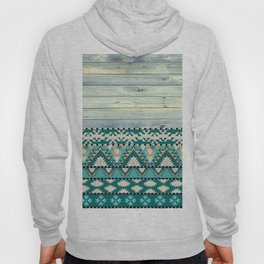 Aztec Pattern on Wood Panel NOT REAL WOOD - Triba Hoody