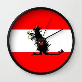 Australia - Kangaroo on Austrian Flag Wall Clock