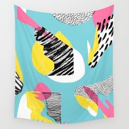 Modern living with lagoon view Wall Tapestry