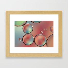 Droplets of Pink & Blue Framed Art Print