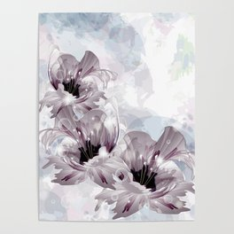 Artistic Flowers Poster
