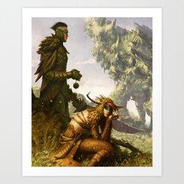 Scavenger Heroes series - 11 Art Print